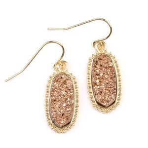 ✨JUST IN✨NEW CHIC COPPER COLOR DRUZY DROP EARRINGS